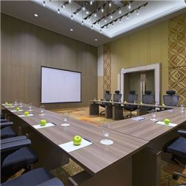 Meeting room with projector screen